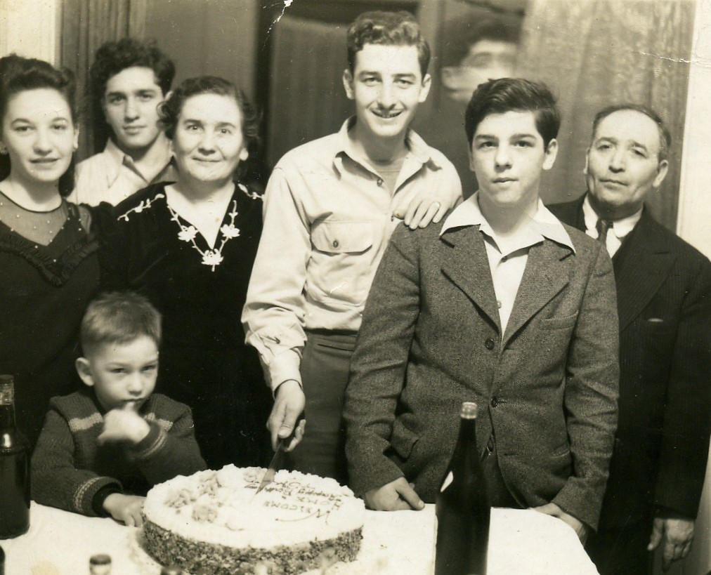 WWII coming home party Saporito Family