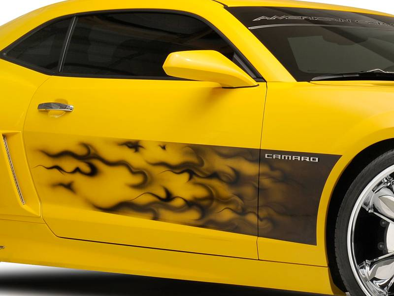 Acc Camaro Graphic Quot Airbrushed Quot Gradient Flame Side