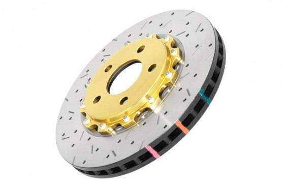 Dba Front Drilled Amp Slotted 5000 Series 2 Piece Rotor