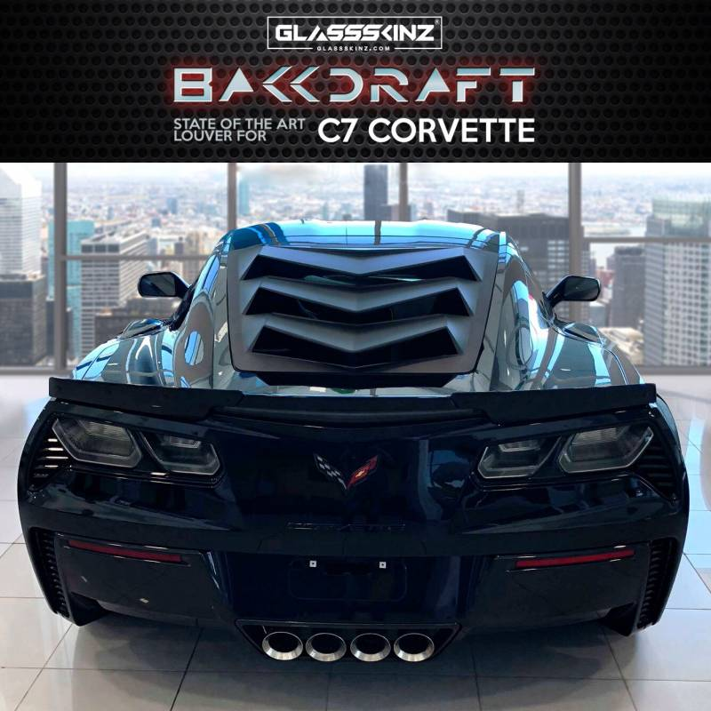 Customize My Car >> GLASSSKINZ C7 CORVETTE LOUVER : BAKKDRAFT