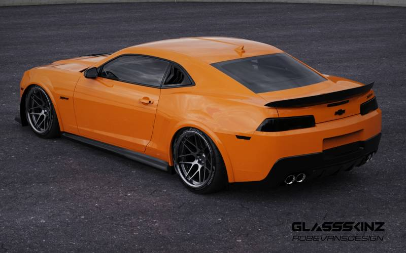 GLASSSKINZ BAKKDRAFT CAMARO 5TH GEN 10-15 QUARTER LOUVERS