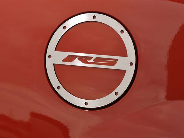 """American Car Craft - ACC Camaro Gas Cap Cover Polished """"RS"""" 2010-2013 - 102012"""