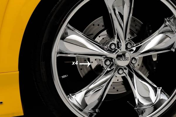 AMERICAN CAR CRAFT  - ACC Camaro Wheel Rotors 4pc Drilled Polished 2010-2013 - 102034