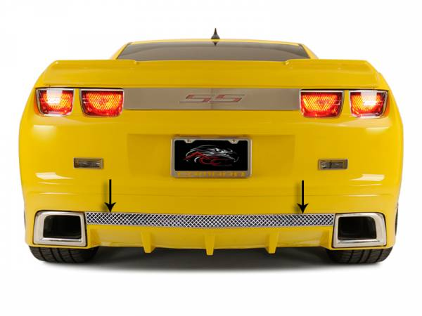 American Car Craft - ACC Camaro Rear Valance Laser Mesh Fits the GM RS Ground Effects 2010-2013 - 102037