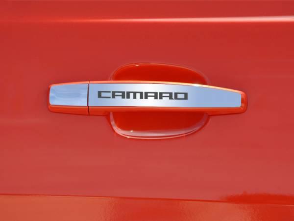 """AMERICAN CAR CRAFT  - ACC Camaro Door Handle Plate Polished Exterior """"CAMARO"""" 2Pc 2010-2013 - 102082"""