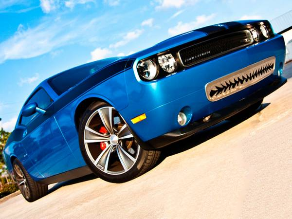 """American Car Craft - ACC Dodge Challenger 5.7 and SRT 8 Grille Polished """"Shark Tooth"""" Lower Front 2011-2013 only - 152011"""