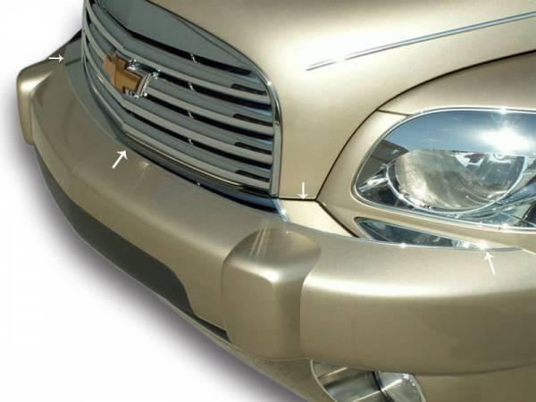 American Car Craft - ACC HHR Front Bumper Cap Polished 2Pc 2006-2012 - 422001