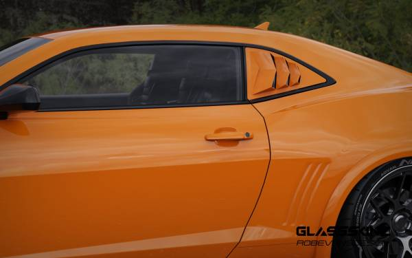 CAMARO 5TH GEN 10-15 QUARTER LOUVERS www.glassskinz.com