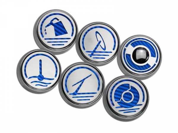 American Car Craft - ACC Fluid Cap Cover Set - 033079-BLK