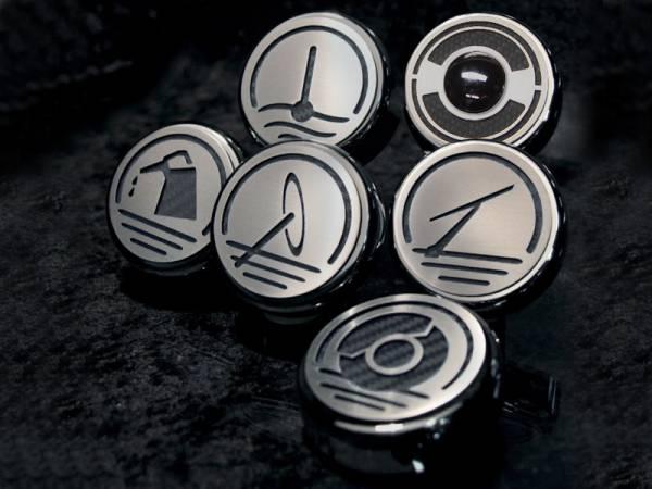 American Car Craft - ACC Fluid Cap Cover Set - 033079-BLU