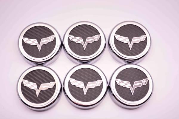American Car Craft - ACC Fluid Cap Cover Set - 043083-BLU