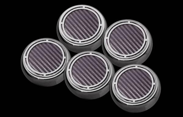 American Car Craft - ACC Fluid Cap Cover Set - 043084-BLK