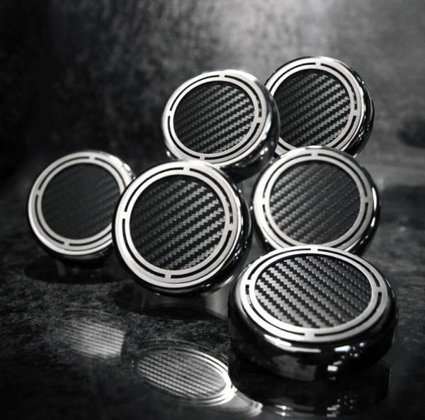 American Car Craft - ACC Fluid Cap Cover Set - 043098-BLK
