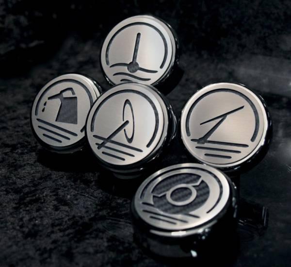 American Car Craft - ACC Fluid Cap Cover Set - 273041-BLK