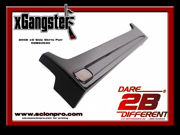 SCION XB SIDE SKIRTS 08-14 XGANGSTER WWW.D2BDMOTORWERKS.COM