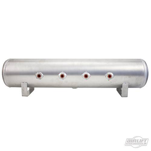 Airlift Aluminum Tank Front ports 7 flat finish 11957 www.d2bdmotorwerks.com