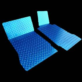 American Car Craft - ACC Corvette Floor Mats - Diamond Plate 2Pc Blue Show must specify year 1999-2004 C5 & Z06 - 031003 - Image 2