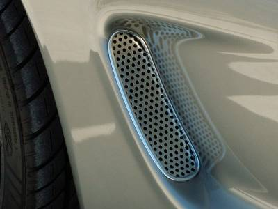 American Car Craft - ACC Corvette Side Vent Grilles 2Pc Perforated 1997-2004 C5 & Z06 - 032015 - Image 2