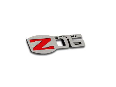 American Car Craft - ACC Corvette Z06 505HP Badges 4Pc Polished 2005-2013 C6 all - 042125 - Image 2