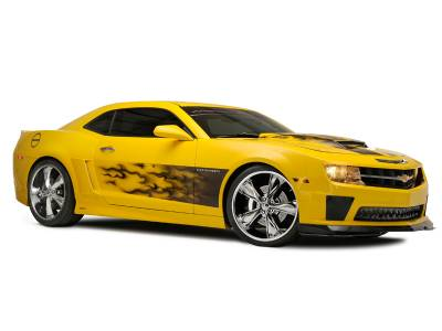 "American Car Craft - ACC Camaro Graphic ""AirBrushed"" Gradient Flame Side Sport Fade 2010-2013 - 102025 - Image 2"