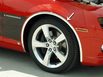 "American Car Craft - ACC Camaro Wheel Well Molding Kit Chrome 1"" Vinyl 4Pc 2010-2013 - 102028 - Image 1"
