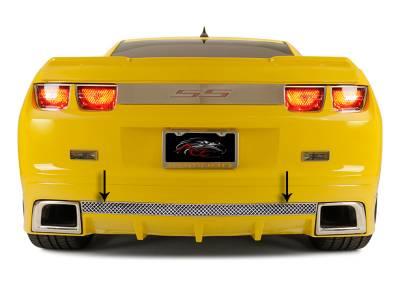 American Car Craft - ACC Camaro Rear Valance Laser Mesh Fits the GM RS Ground Effects 2010-2013 - 102037 - Image 1