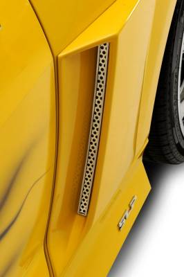 American Car Craft - ACC Camaro Vent Grilles Side Perforated Fits Xenon Scoops 2Pc 2010-2013 - 102051 - Image 1