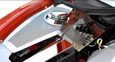 American Car Craft - ACC Camaro Inner Fender Covers Perforated Deluxe 10Pc w/Fuse Box Cover 2010-2011 - 103015 - Image 5