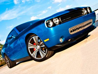 """American Car Craft - ACC Dodge Challenger 5.7 and SRT 8 Grille Polished """"Shark Tooth"""" Lower Front 2011-2013 only - 152011 - Image 1"""