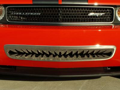 """American Car Craft - ACC Dodge Challenger 5.7 and SRT 8 Grille Polished """"Shark Tooth"""" Lower Front 2011-2013 only - 152011 - Image 5"""