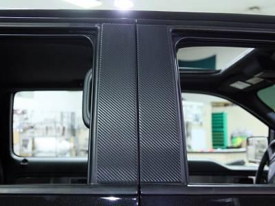 Truck/SUV Steel - Ford Raptor - American Car Craft - ACC Ford Raptor Pillar Post Carbon Fiber Wrap 4Pc 2009-2013 - 772012