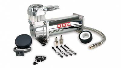 Air Ride Suspension - Air Pumps  - Viair  - Viair 16444 /  444C Chrome Compressor 200 PSI:  VIAIR 16444