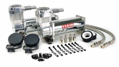 Air Ride Suspension - Air Pumps  - Viair  - Viair 23444 / 444C Dual Chrome Compressors 200 PSI: VIAIR  23444