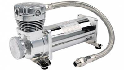 Air Ride Suspension - Air Pumps  - Viair  - Viair 16480 / 480C  Chrome Compressor: VIAIR 16480