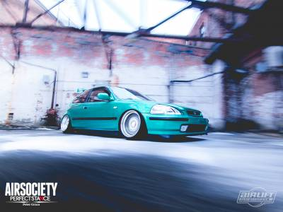 AIRLIFT PERFORMANCE  - Airlift  Honda Civic/Del Sol/ CRX 92-00 Slam Air Kit :75440 / 75540 AP Manual/3S/3P/3H