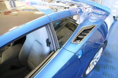 Modern Muscle Car Steel - Chevrolet C7 Corvette - ACC C7 Corvette Stingray - 2pc Carbon/Fiber Glass w/Stainless Steel Trim Rear Quarter Vent Set 2014 - 52064