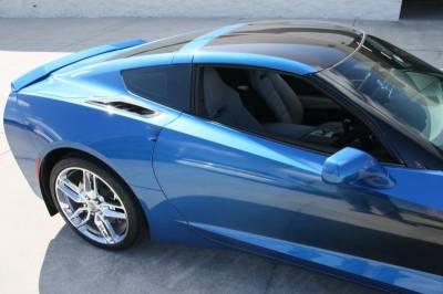 """Modern Muscle Car Steel - Chevrolet C7 Corvette - ACC C7 Corvette Stingray - 10pc Rear Quarter Vent Set """"Real Carbon Fiber"""" w/Stainless Trim 2014 - 52065"""