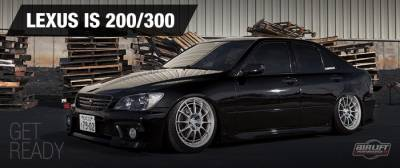 LEXUS  - IS 200 1998-2005 - AIRLIFT PERFORMANCE  - Airlift Lexus IS 200/300  98-05 Performance Threaded Body Air Ride Suspension :  78514 / 78614 AP Manual/3S/3P/3H