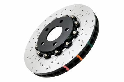 Brakes - DBA - DBA  5000 Series Rotor w/ Black Hat 02-10 WRX / 13+ FR-S / 13+ BRZ/ 13+ Toyota FT-86: DBA5010BLKXS