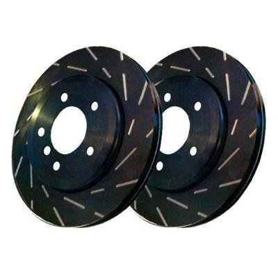 Brakes - Brake Rotors  - EBC Brake Rotors - USR Slotted Rotors 2 pieces - Front 10-12 HS250H/ 08-14 XB/ 12-13 PRIUS V/ 06-14 RAV4: USR7413