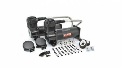 Air Ride Suspension - Air Pumps  - Viair  - Viair 23444B/ BLACK 444B Dual Compressor Pack 200psi : 23444B