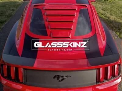 Exterior - Visors  - GLASSSKINZ - GLASSSKINZ TEKNO 1 MUSTANG S550 15-18