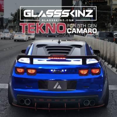 Exterior - Visors  - GLASSSKINZ - GLASSSKINZ TEKNO 1  Camaro 5th Gen 10-15