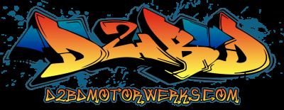 D2BD - D2BD Motorwerks Logo Sticker