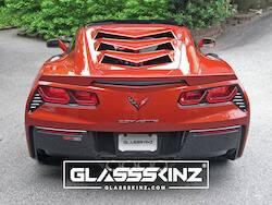 GLASSSKINZ - BAKKDRAFT - GLASSSKINZ - GLASSSKINZ  C7 CORVETTE LOUVER : BAKKDRAFT