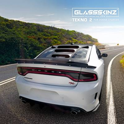 Exterior - Roof Spoilers/Appliques - GLASSSKINZ - GLASSSKINZ TEKNO 2 DODGE CHARGER 11-18