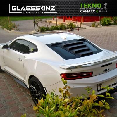 Exterior - Visors  - GLASSSKINZ - GLASSSKINZ TEKNO 1  Camaro 6th Gen 16-19