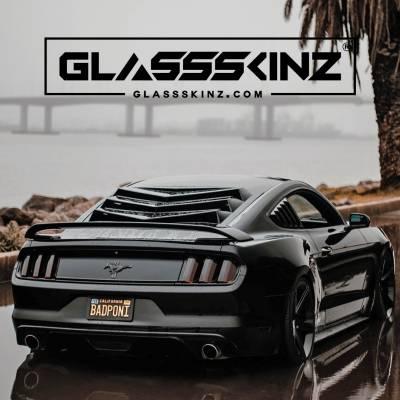Exterior - Visors  - GLASSSKINZ - GLASSSKINZ BAKKDRAFT MUSTANG S550 15-19