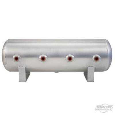 AIRLIFT PERFORMANCE  - Airlift 12958 Aluminum 2.5 Gallon Tank Face Port Tank Raw  : 12958