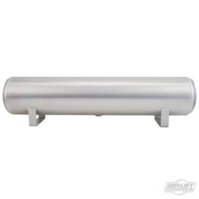 Air Ride Suspension - Air Tanks  - AIRLIFT PERFORMANCE  - Airlift 12955 Aluminum Air Tank 4 Gallon 5 Face ports Polished  : 12955